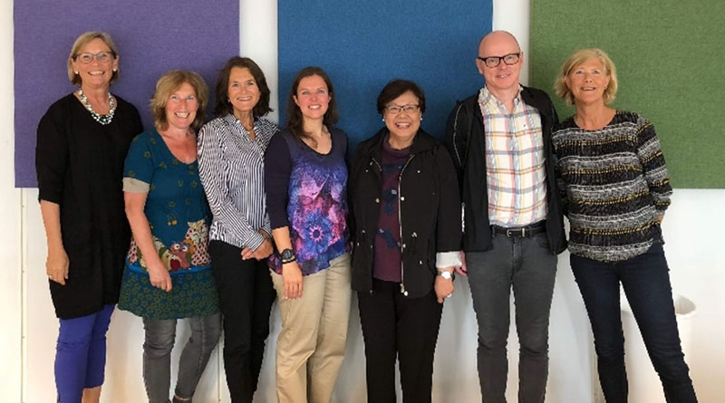 Christine Lee with some of the Lesson Study Research Group at University of Stavanger (Elaine Munthe, Anne Mette Karlsen, Gro Naesheim-Bjorkvik, Rebecca Ann Stuvland, Christine Lee, Arne Jakobsen, Nina Helgevold)