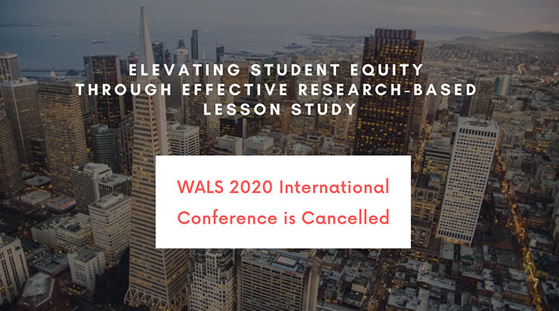 WALS 2020 International Conference is Cancelled