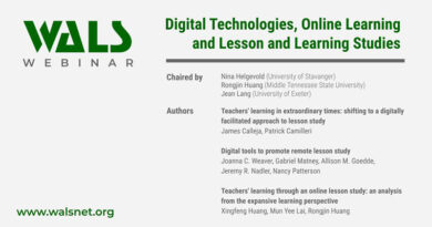 Digital Technologies, Online Learning and Lesson and Learning Studies