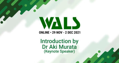 WALS 2021 Online – Introduction by Dr Aki Murata
